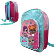 Official LOL Surprise Deluxe Glitter Front Pocket Backpack