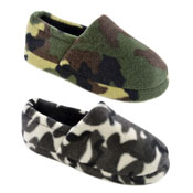 Childrens Fleece Slippers Camouflage