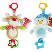 First Steps Christmas Plush Toy With Teether