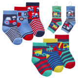 Baby Boys 3 Pack Tractor Digger Socks