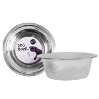 Stainless Steel Embossed Dog Bowl