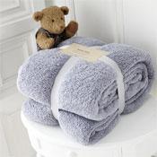 Luxurious Super Soft Teddy Throw Silver