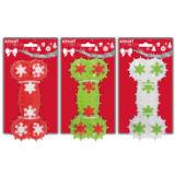 Christmas Snowflake Spikey Rubber Bone Dog Toy