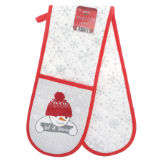 Christmas Let It Snow Double Oven Glove