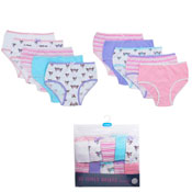 Girls Unicorn Novelty Design Briefs 10 Pack