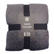 Black Inara Glitter Design Blanket Throw