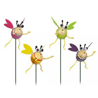 Happy Bumblebee Garden Stake