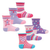 Childrens Star Designs Cotton Rich Socks