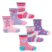 Childrens Star Designs Cotton Rich Socks