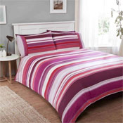 Stratos Mulberry Brushed Cotton Duvet Set