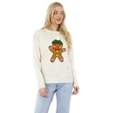Ladies Christmas Gingerbread Man Jumper