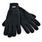 Mens Acrylic Thinsulate Knitted Gloves Black