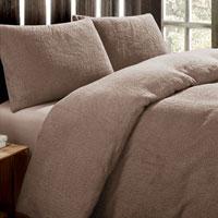 Super Soft Teddy Fleece Duvet Set Mink
