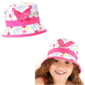 Girls Embellished Butterfly Hat