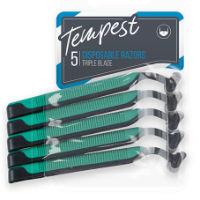 Mens Triple Blade Disposable Razors 5 Pack
