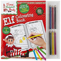 Elf Colouring Book With Mini Pencils