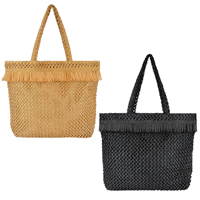 Paper Straw Knitted Bag