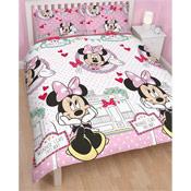 Minnie Mouse 'Cafe' Double Duvet Set