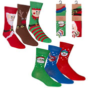 Mens Christmas Socks Novelty Designs