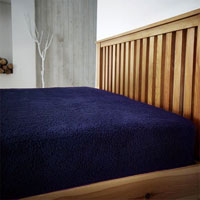 Super Soft Teddy Feel Fitted Bed Sheet Navy