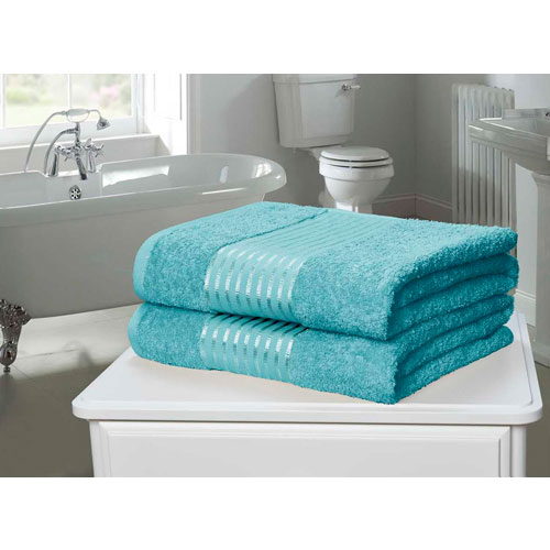 Windsor Egyptian Combed Cotton Bath Towel Aqua