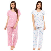 Ladies Pyjama Set Heart Print