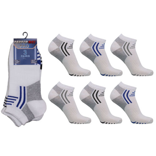 Mens Performax Pro Arch Top Trainer Socks White