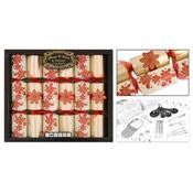 Harvey & Mason 6 Deluxe Crackers Poinsettia