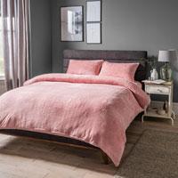 Cosy & Soft Teddy Duvet Set Blush Pink