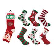 Ladies CoZee Christmas Slipper Socks