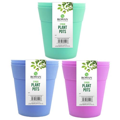 3 Pack Plant Pots 13cm