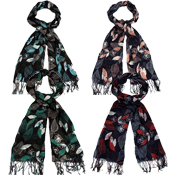 Assorted Leaf Scarf