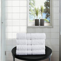 4 Pack Hand Towels Dickens White