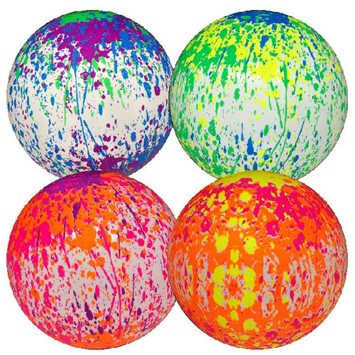 Deflated Paint Effect Ball 9 Inch