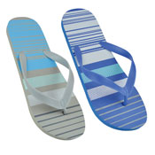 Mens Stripes Print Flip Flop Blue/Black
