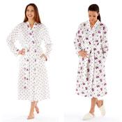 Ladies Kimono Wrap Style Dressing Gown