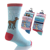 Girls Naughty Dogs Design Socks