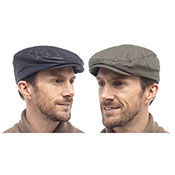 Mens Waxed Flat Cap