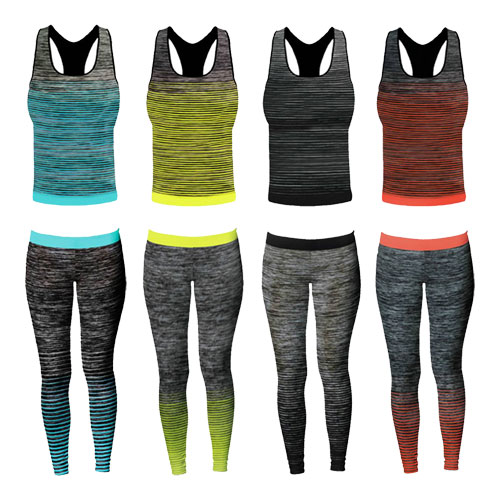Ladies Vest Top Gym Set