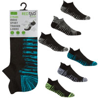 Mens 3 Pack Trainer Socks Twist Yarn