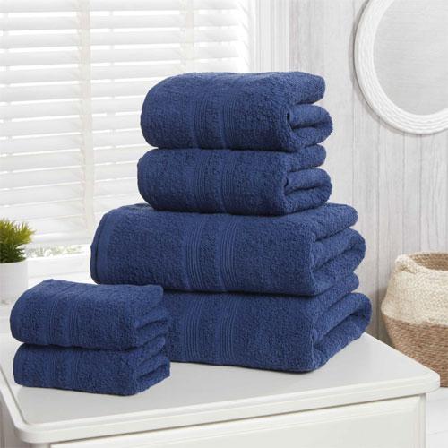 6 Piece Hotel Quality Towel Bale Midnight