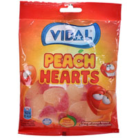 Peach Hearts Sweets 100g Bag