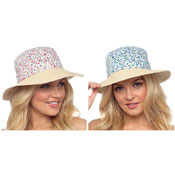 Ladies Floral Detail Summer Hat