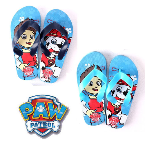 Paw Patrol Blue Flip Flops