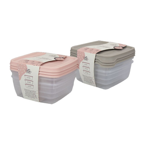 Food Container 600ML - 3 Pack