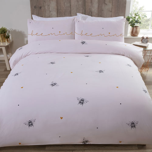 Bee Mine Made With Love Duvet Set