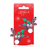 Christmas Friends Reindeer Design Hair Clips