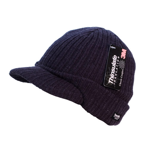Mens Thinsulate Hats with Peak