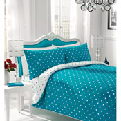 Polka Dot Bedding Duvet Set Teal