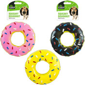 Squeaky Doughnut Dog Toy